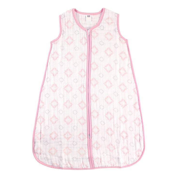 Hudson Baby Muslin Sleeping Bag - Pink Damask - 18-24 M, Infant Girl's, Size: 18-24 Months