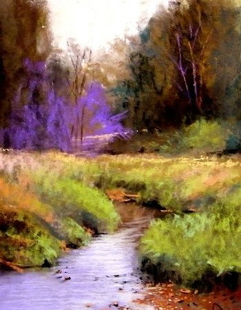 Cecil's Creek by Tom Christopher Pastel ~ 14 x 11