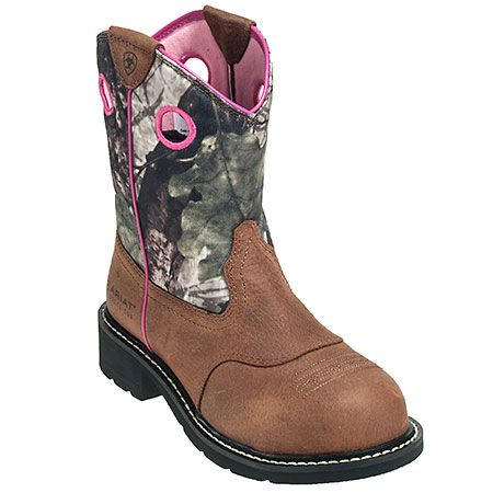 Ariat Women's 10012815 Steel Toe Camo Pink Cowgirl Boots