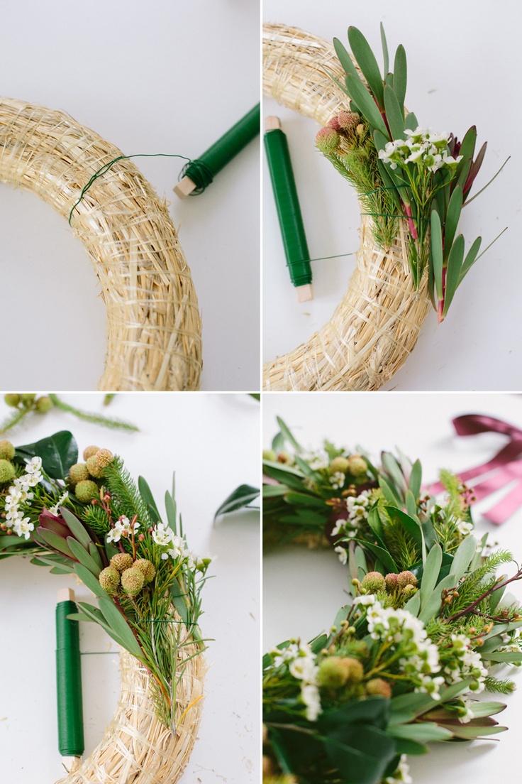 Learn to make a wreath.