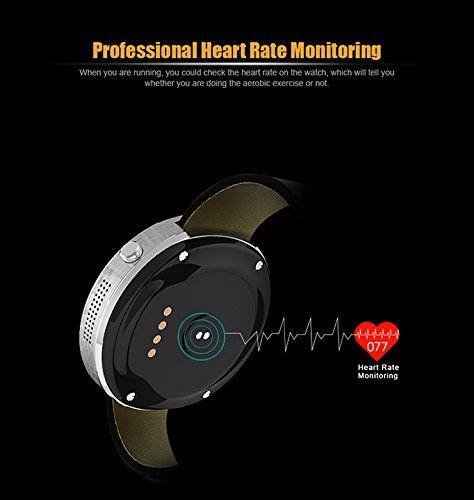 Indigi 2017 NEW Elegant M365 Round Leather SmartWatch Bluetooth 4.0 Sync – Heart Sensor – Pedometer – Fitness 89.97  #BPM #HeartRateMonitor&Pedometer-KickStartyourhealthbykeepingtrackofyourBPMandStepsTakenthroughouttheday! #inDigi #Indigi2017NEWElegantM365RoundLeatherSmartWatchBluetooth4.0Sync-HeartSensor-Pedometer-Fitness #IndigiM365 #m365-BK...