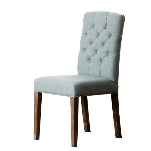 Abbyson Living Larua Linen Tufted Dining Chair