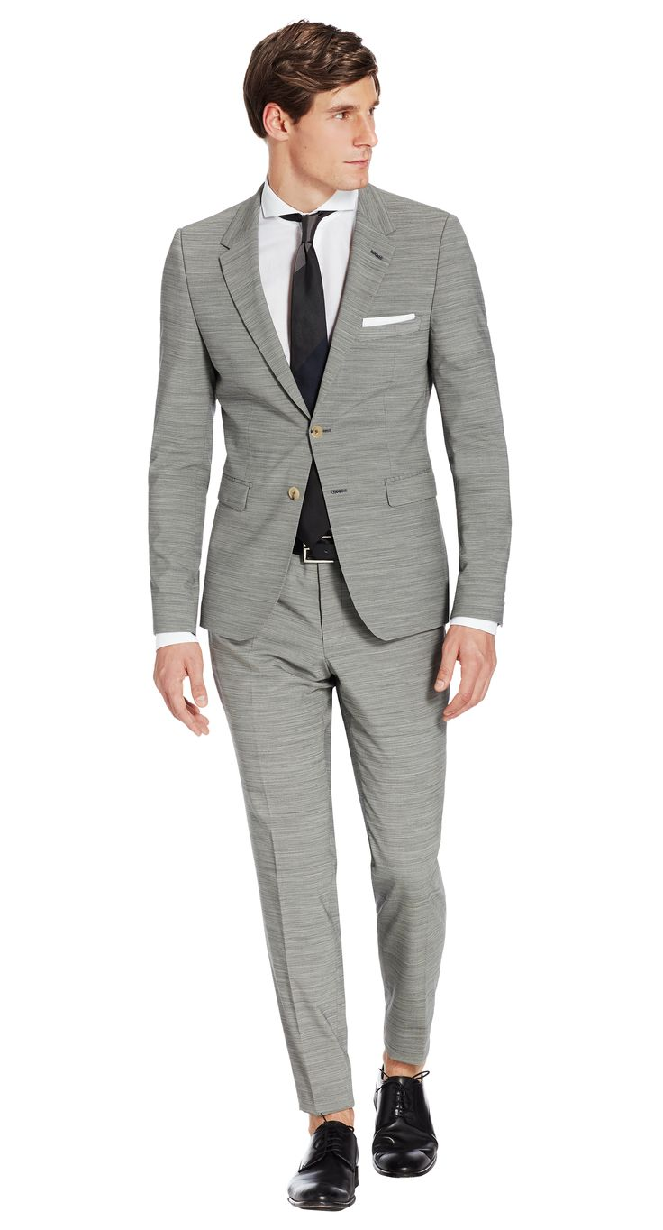 Suit Grey Stripe Salvador
