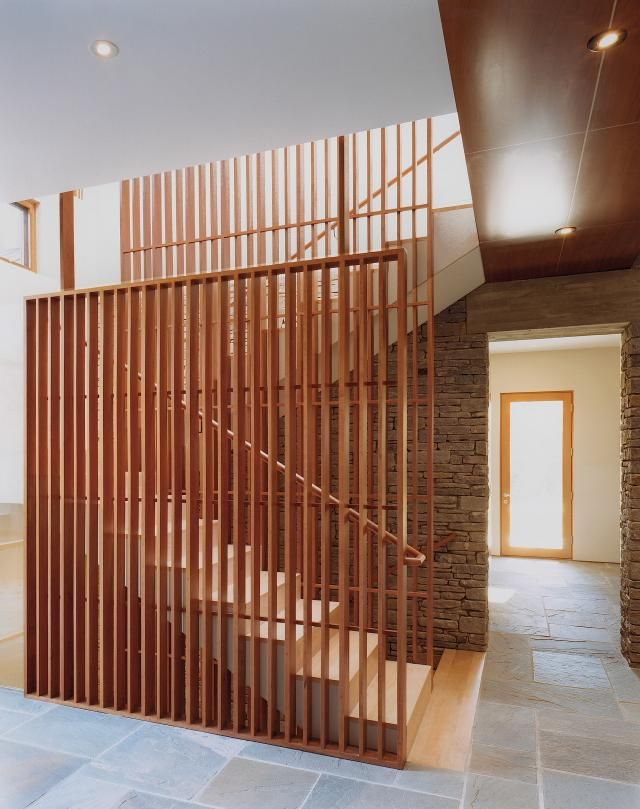 A Forest Of Wood In Northern Virginia. Wood StaircaseModern Stair RailingOpen  ...