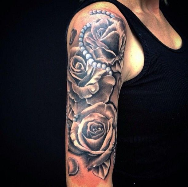 tattoo perlenkette mit rosen arm ink d pinterest tattoos