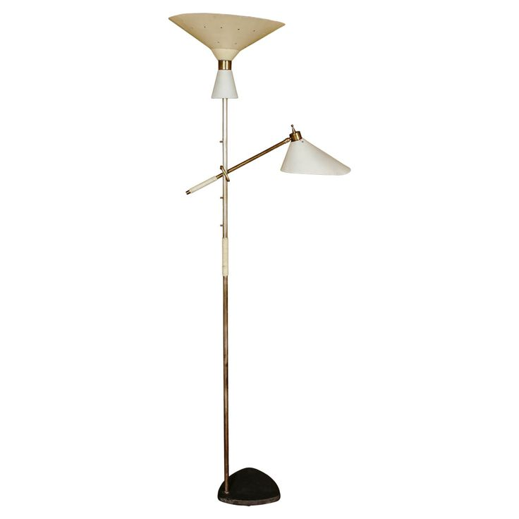 64 best vintage floor lamp images on pinterest floor lamps floor italian floor lamp with uplight and adjustable height of the shade circa 1950 aloadofball Image collections