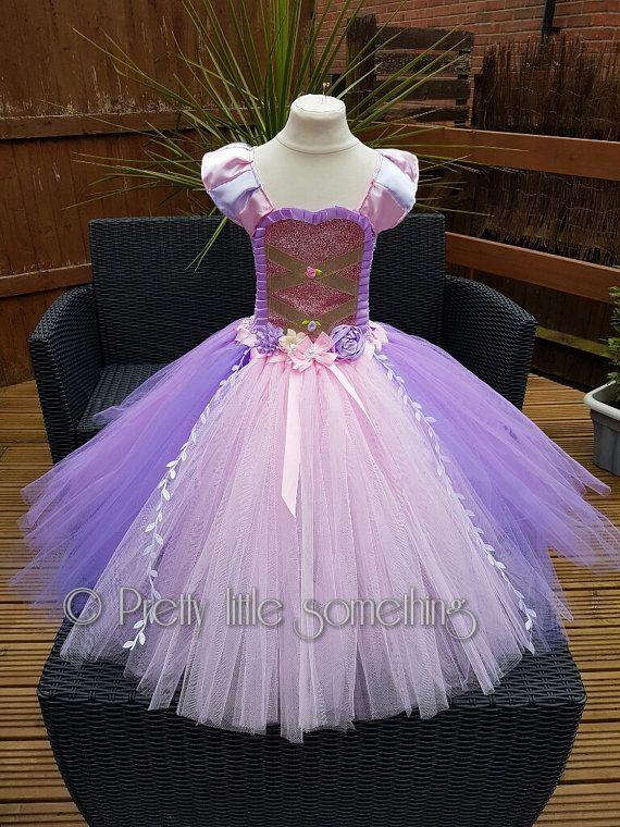 Tangled rapunzel inspired princess tutu dress