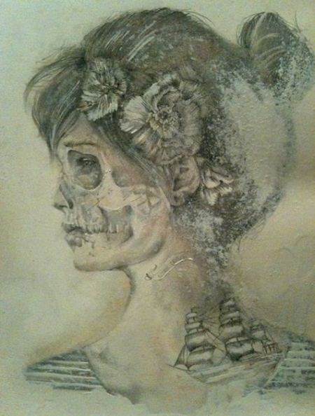 Jessica Stewart creates unique portraits with pencils, pastels and paint.