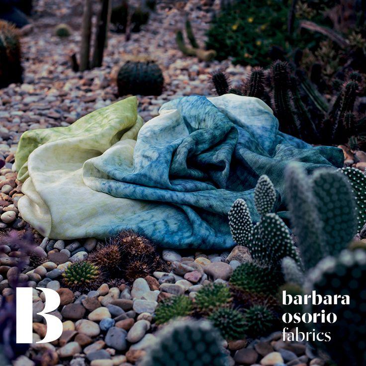 Equador collection 2015 by barbara osorio fabrics - B107 Lagoa Azul printed linen