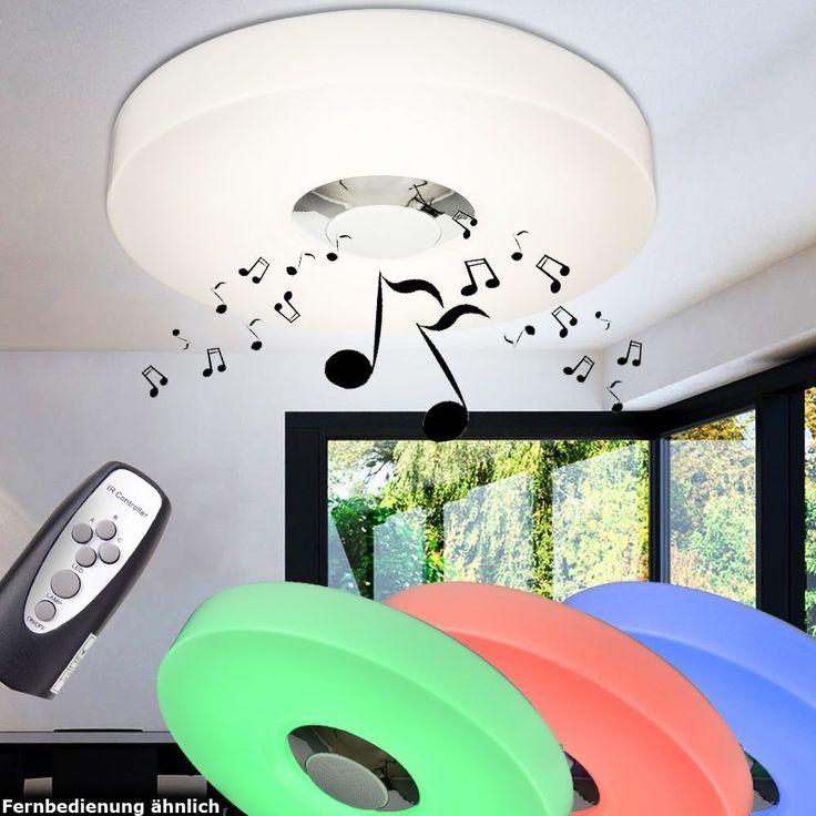 15W RGB LED Decken Leuchte MP3 Bluetooth Büro Lampe Lautsprecher Fernbedienung in Möbel & Wohnen, Beleuchtung, Deckenlampen & Kronleuchter | eBay!