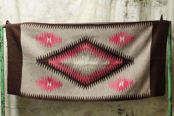 Pink Diamond Navajo Rug