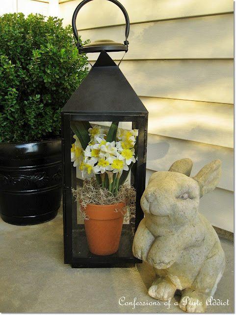 cute spring decor for the porch!