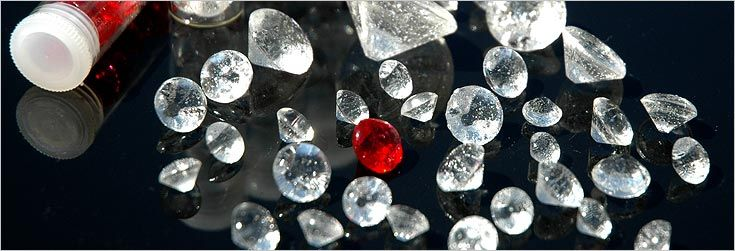 Edible diamonds....so awesome for cake decorating etc...