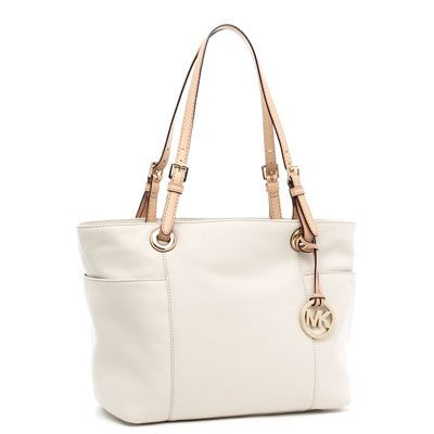 Michael Kors Jet Set Zip-Top Tote Vanilla