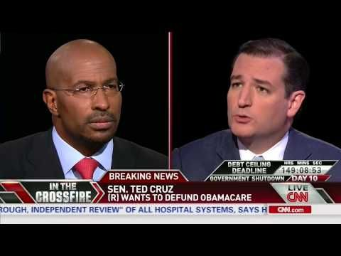 "WATCH: Van Jones Lambasts Ted Cruz for Demagoguery in Crossfire Debate About Obamacare ""Are you ever going to acknowledge that you were on t..."