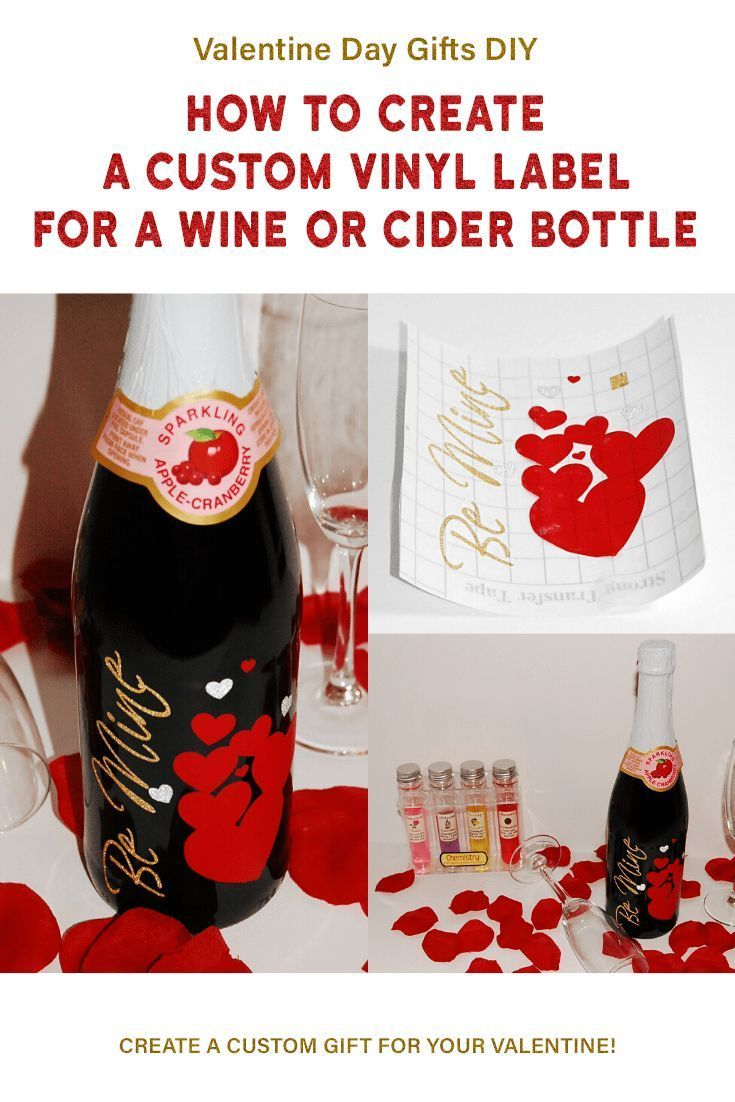 Diy How To Add Your Own Custom Label To A Wine Bottle Add Some Fun To Your Valentines Day In 2020 Wine Bottle Decals Wine Bottle Favors Personalized Wine Bottles