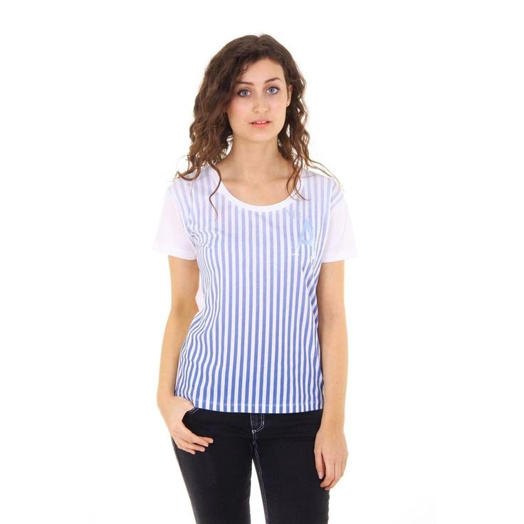 Striped 40 EUR - 4 US Emporio Armani ladies t-shirt short sleeve AGH60 AX 1D
