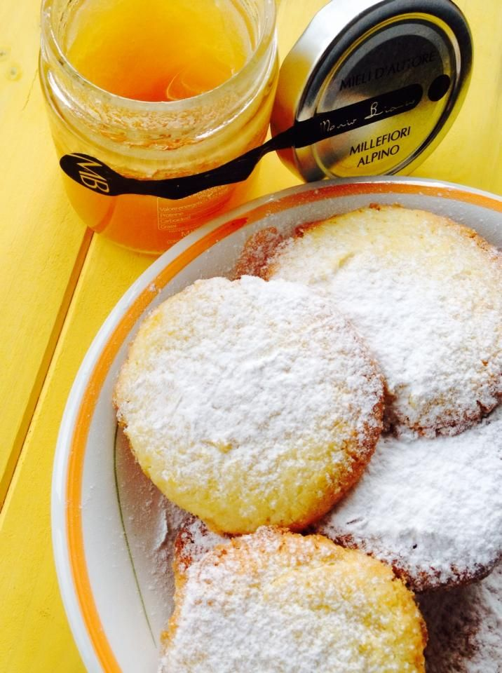 Biscuits coco et miel, à la farine de riz et fécule. Sans gluten. - Frollini di farina di riso al cocco e miele