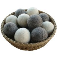 Wool Dryer Balls --- to help reduce drying time and naturally fluff your laundry and cloth diapers. Use these instead of fabric softner and save money while be kinder to the earth.
