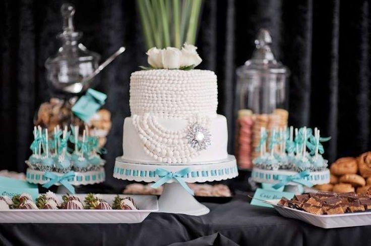 Свадебные торты : стиль Завтрак у Тиффани фото : 27 идей 2017 года на Невеста.info