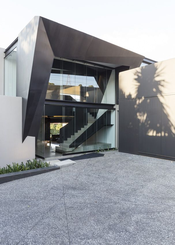 kloof road house entrance nico van der meulen architects design steel