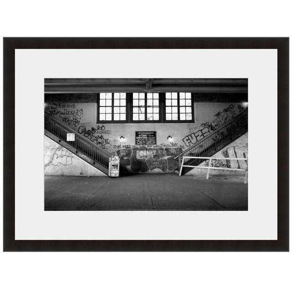 Image: Fuzz Photographer: John Conn Frame: Black Onyx #graffiti #street #stairs #symettry #light #warehouse #room #bw #eFrame