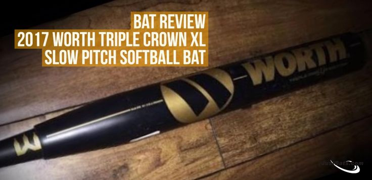 JustBats bat review on the 2017 Worth Triple Crown XL slowpitch softball bat! Click to read more.