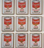 Andy WARHOL Pop art. Campbell's Soup Cans. 1962