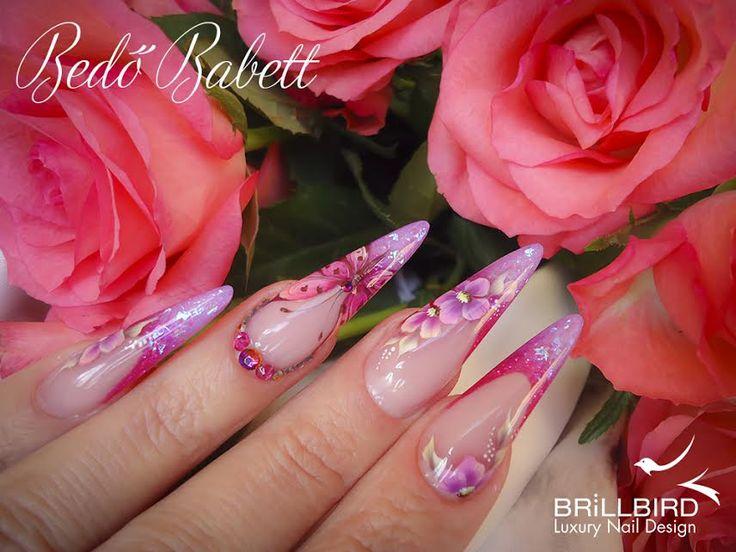 Bedő Babett tavaszi műköröm Nails by Babett Bedő