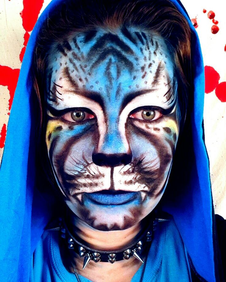 Blue Tiger MakeUp. One of my most successful speed tutorials on youtube so far. (14.12.2015) Ransid
