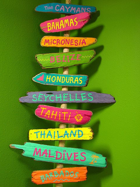Love this idea ... signs of places I have visited (mine might be a short list LOL)