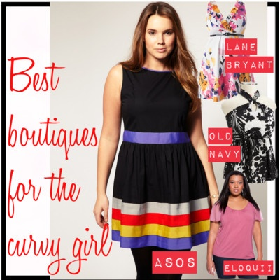 Best boutiques for the curvy girl: Where to find stylish plus size clothes online. Including eloquii, Old Navy, Lane Bryant, @asos.com.com.com   [http://www.franticbutfabulous.com/2012/05/08/best-boutiques-for-the-curvy-girl-where-to-find-stylish-plus-size-clothes-online/] #curvygirl #plussize