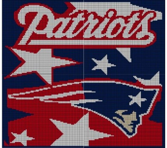 New England Patriots Crochet Afghan Pattern Graph ...