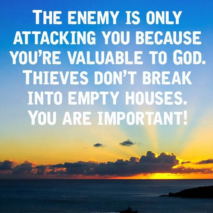 Theives don't steal items of no value. YOU are valuable!