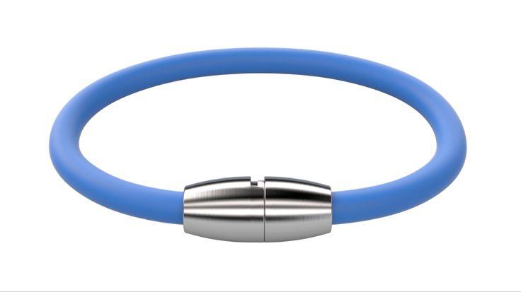 Das Armband besteht aus hautverträglichem Silikon und einem speziell entwickelten Bajonettverschluss der aus anti-allergenen Edelstahl gefertigt ist.   Länge: 17,5cm / 19,5cm / 21,5cm  Armband + Plakette