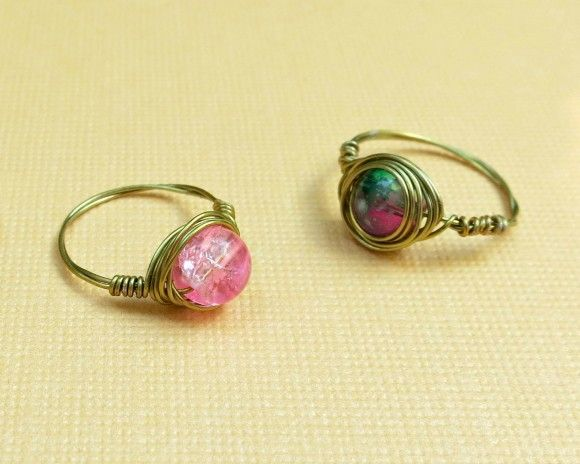 Tutorial: Wire Wrapped Bead Rings