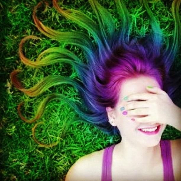 Rainbow HAIR _____________________________ Reposted by Dr. Veronica Lee, DNP (Depew/Buffalo, NY, US)