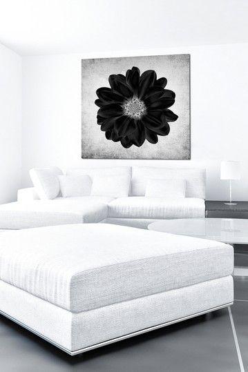 Black Iris Canvas Wall Art by The Ultravelvet Collection on @HauteLook