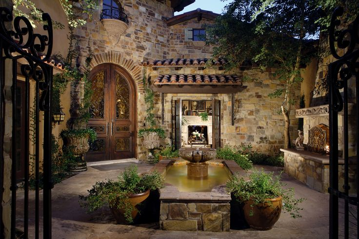 I Love This Courtyard Great Outdoors Tuscan House