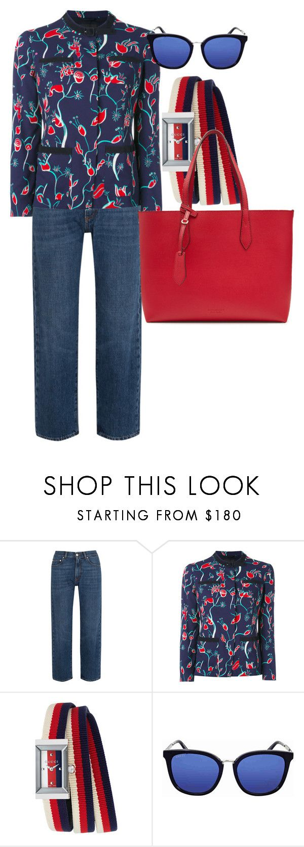 """Без названия #4"" by markova-elena on Polyvore featuring мода, AlexaChung, Emporio Armani, Gucci и Burberry"