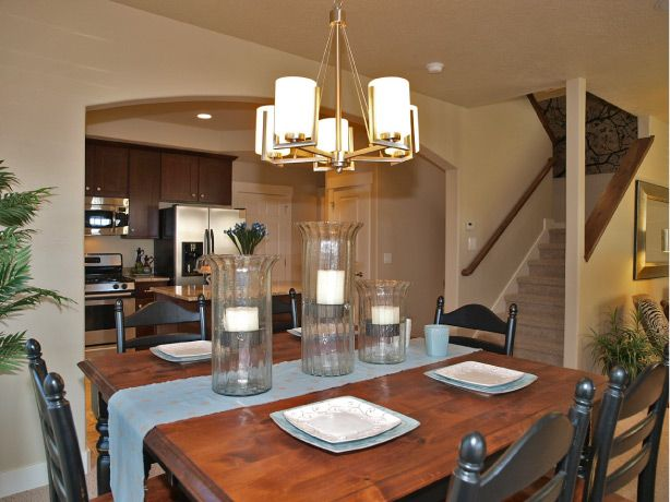 17 best images about ivory homes dining rooms on pinterest for Model home dining room