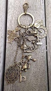 Alice IN Wonderland Keyring KEY Ring Keychain KEY Chain Vintage Style Bronze | eBay