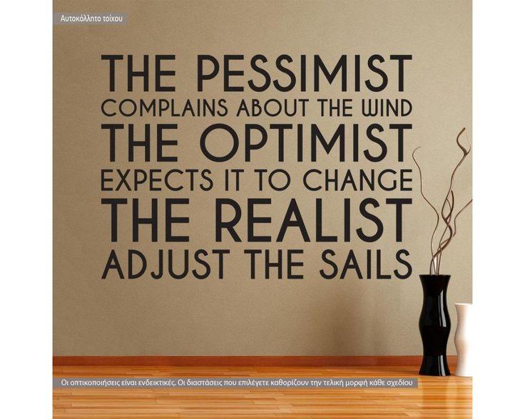 The pessimist , the optimist, the realist, αυτοκόλλητο τοίχου