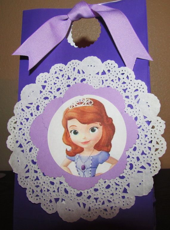 SOFIA the First Princess Party Favor Doily by KhloesKustomKreation, $20.00