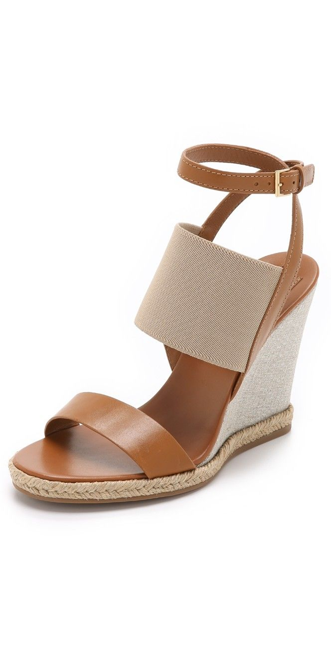 Tory Burch Raya Elastic Wedge Sandals | SHOPBOP SAVE UP TO 25% Use Code:GOBIG15