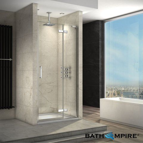 1200mm 8mm Finest Easyclean Hinged Shower Door Loft