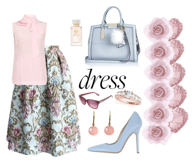 """""""Rose petal"""" by joanne2016 on Polyvore featuring Chicwish, Accessorize, Norma J.Baker, River Island, Tory Burch, Rochas, Roberto Coin, Lacoste, Allurez and women's clothing"""