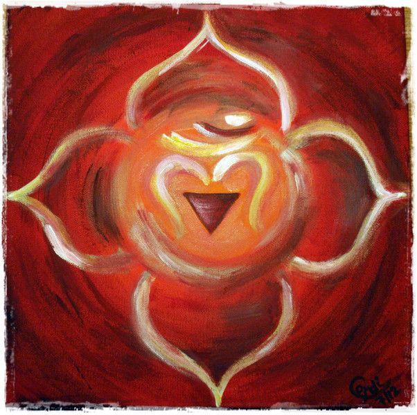 Acrylmalerei - Acrylbild Wurzel-Chakra - ein Designerstück von HOAMELIGundSCHEAN bei DaWanda