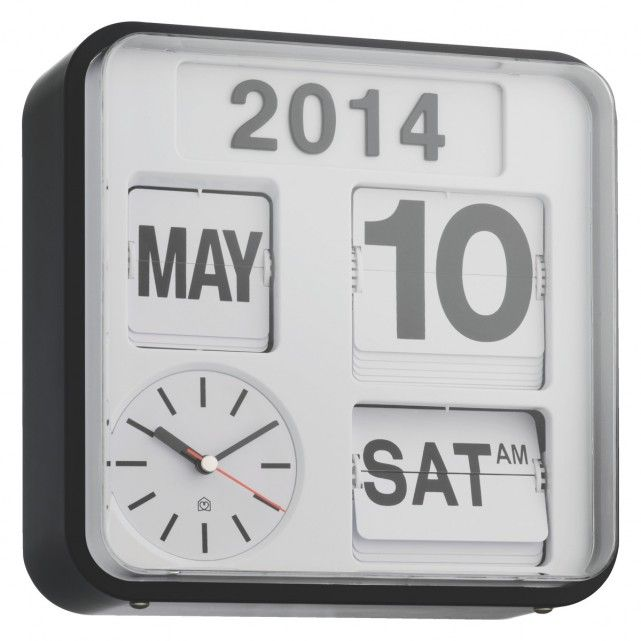 Black Kitchen Clock Argos: FLAP White Small Analogue Year Wall Clock In 2019