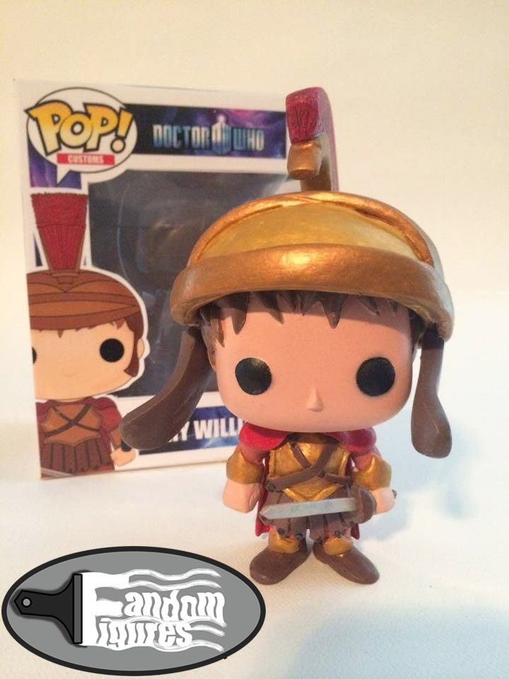 Doctor who rory williams the last centurion wearing his helmet custom funko pop